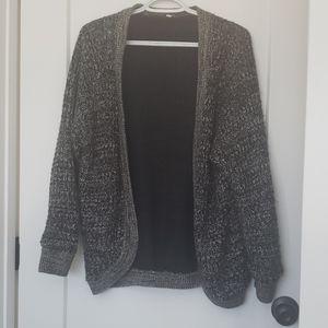 Sweaters - Gray Knit Cardigan